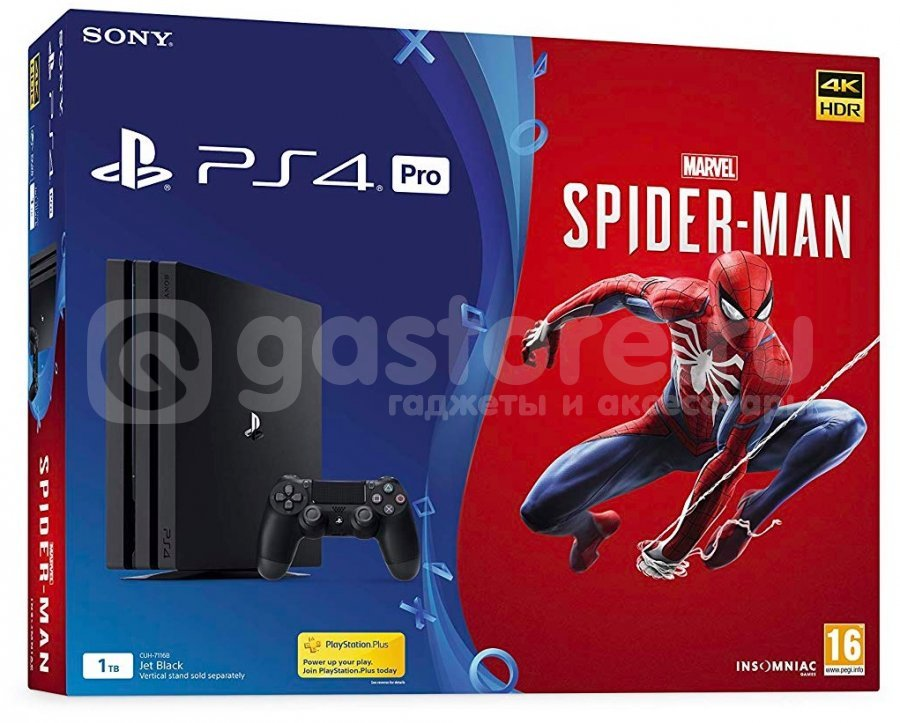Игровая приставка Sony PlayStation 4 Pro 1Tb +  Spider-man
