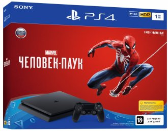 Игровая приставка Sony PlayStation 4 Slim 1TB + Spider-man