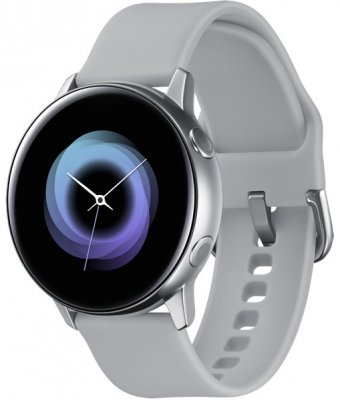 Фотография Умные часы Samsung Galaxy Watch Active, серебристые